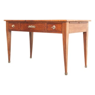 French Empire Walnut Writing Table For Sale