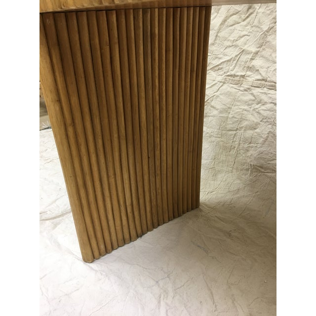 1970s 1970s Contemporary Cane Bamboo Waterfall Side Table For Sale - Image 5 of 8