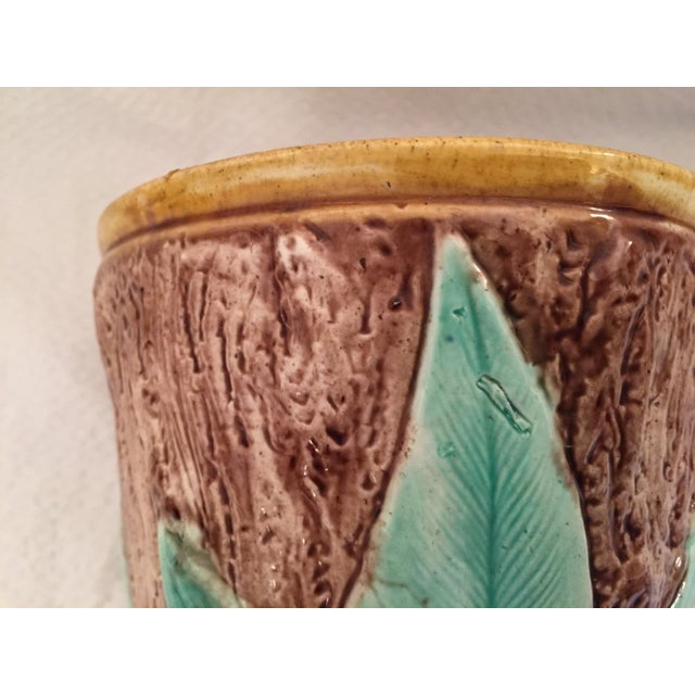 Antique English Majolica Cachepot - Image 7 of 7