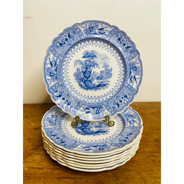 """Hard to find matching set of the historically popular """"Canova"""" patterned transfer printed luncheon size plates {can be..."""