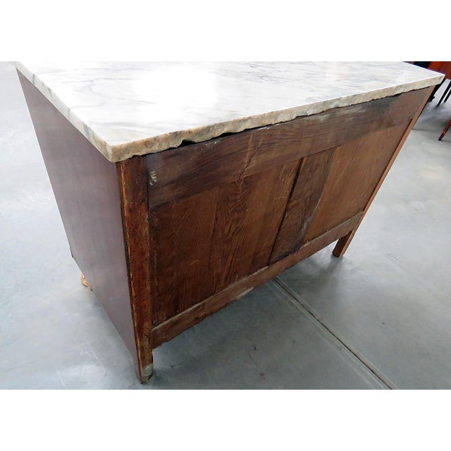 19thC French Directoire Style Marble Top Commode For Sale In Philadelphia - Image 6 of 10