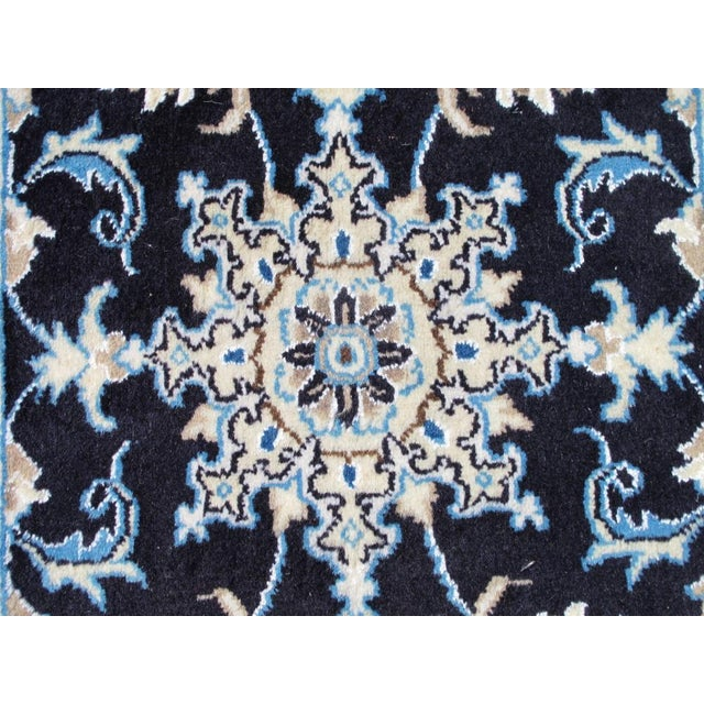 Persian Nain Wool & Silk Rug - 2' x 3' For Sale - Image 4 of 6
