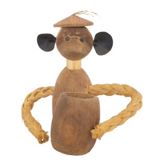 Mid-Century Monkey Match Holder For Sale