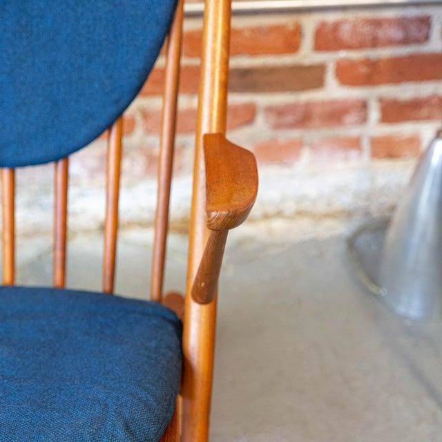 Bramin Møbler Bramin Mobler Danish Teak Rocking Chair For Sale - Image 4 of 5