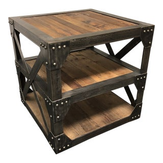 Industrial Timothy Oulton Scaffolding Timber Side Table For Sale