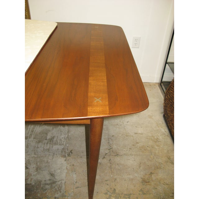 Mid Century American of Martinsville Walnut Dining Table For Sale - Image 9 of 10