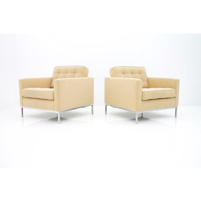 1950s Florence Knoll Lounge Chairs for Knoll International For Sale - Image 5 of 10
