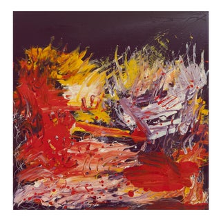 FireFight Contemporary Abstract Painting For Sale