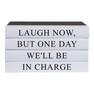 Laugh Now Quote Book Stack - 4 Pieces For Sale