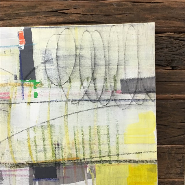 """Isabel Wyatt """"Taxi"""" Original Abstract Painting - Image 4 of 4"""