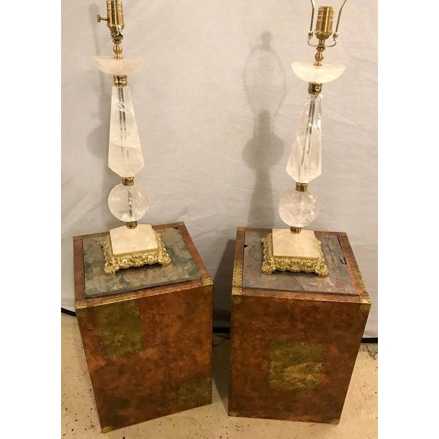 Mid-Century Modern Pair of Mid-Century Modern Paul Evans Inspired End Tables or Pedestals For Sale - Image 3 of 12