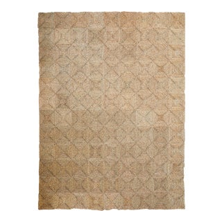 Rush House for Chairish Original Seagrass Rug with Individual Squares and Sew Kit For Sale