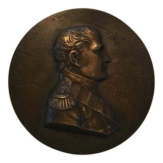 19th Century Bronze Medallion of Napoleon For Sale