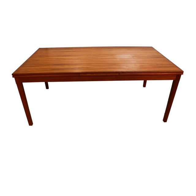 Danish Teak Extra Large Expanding Dining Table With 2 Leaves For Sale In Baltimore - Image 6 of 9
