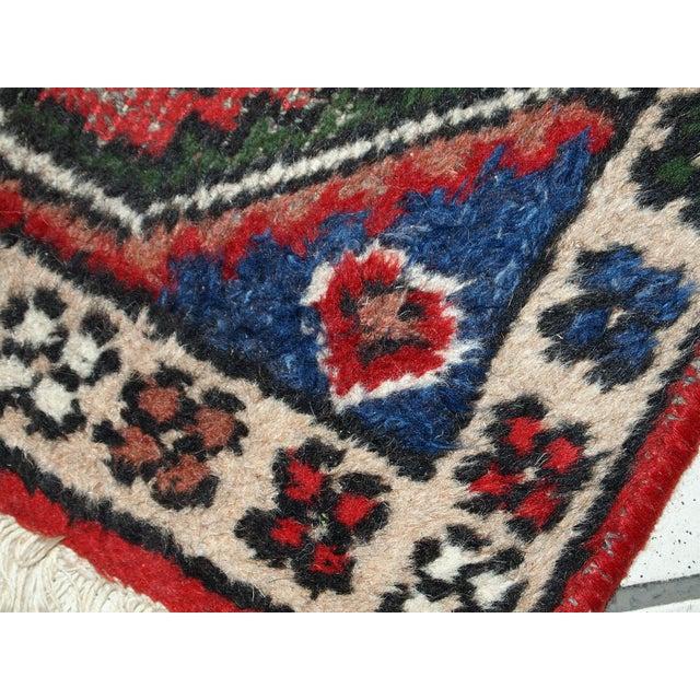 1970s 1970s, Handmade Vintage Persian Hamadan Rug 1.3' X 1.9' For Sale - Image 5 of 10