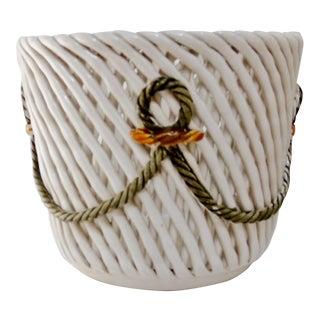 Capodinonte Woven Cachepot For Sale