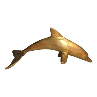Brass Dolphin Paperweight, 1970s
