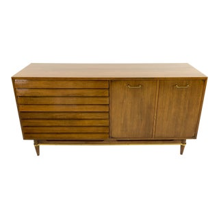 American of Martinsville Louvered Credenza For Sale
