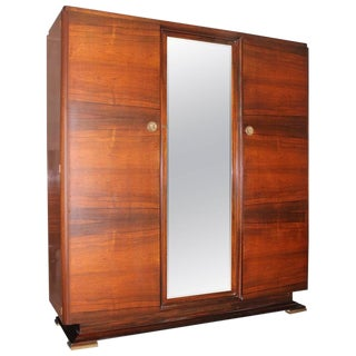 1940s Danish Modern Maxime Old Exotic Macassar Ebony Armoire For Sale