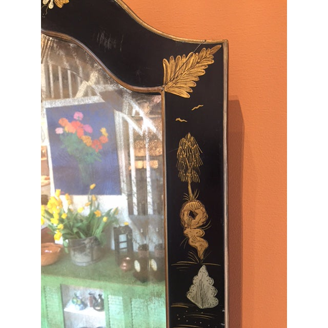 Chinoiserie Painted Vintage Mirror - Image 3 of 4