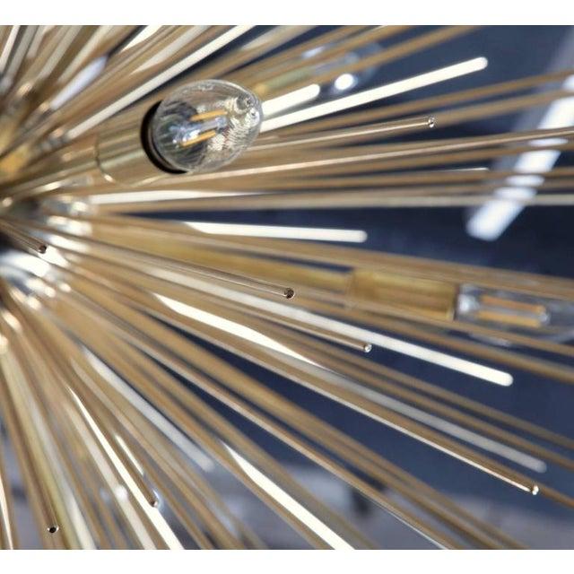 Monumental Brass Sputnik or Urchin Chandelier For Sale - Image 4 of 6