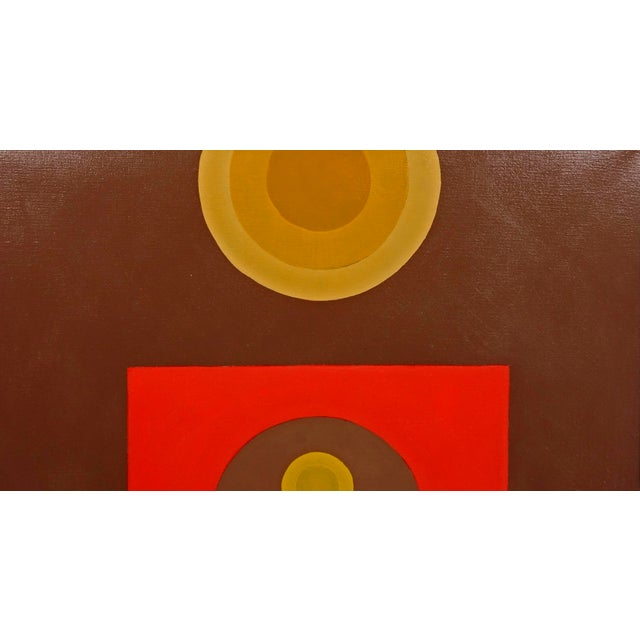 Vintage Signed Geometric Abstract Painting - Image 4 of 8