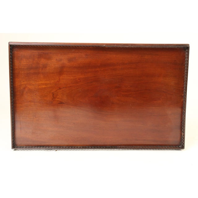 Chinese Chippendale Style Mahogany Tea Table For Sale - Image 10 of 13