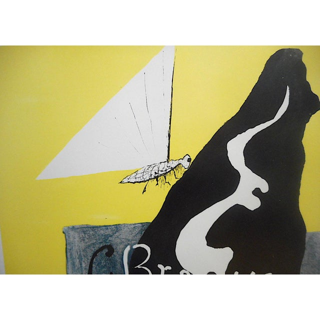 Georges Braque Vintage Mid 20th Century Modern Poster-Georges Braque 1953 For Sale - Image 4 of 7