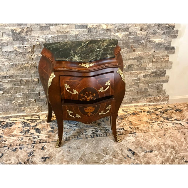 2010s Louis XV Empire Marble Top Side Table For Sale - Image 5 of 10
