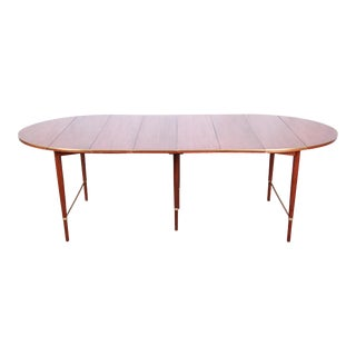 Paul McCobb Connoisseur Collection Mahogany and Brass Extension Dining Table, Newly Restored For Sale