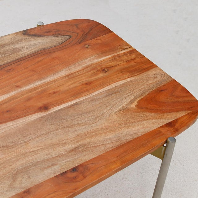 Laverne Exotic Wood Coffee Table - Image 5 of 6