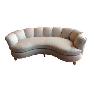 Channeled Back Sofa