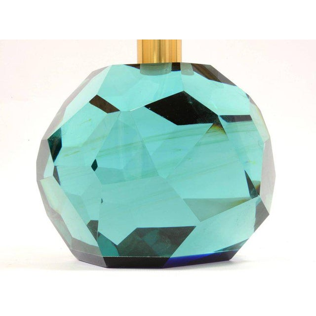 "Mediterranean Pair of Lamps ""Diamante Blu"" by Roberto Giulio Rida For Sale - Image 3 of 7"