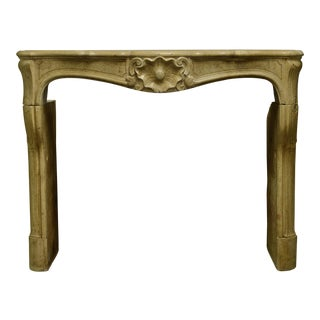 Beautiful French Louis XV Fireplace Mantel in Limestone, 19th Century
