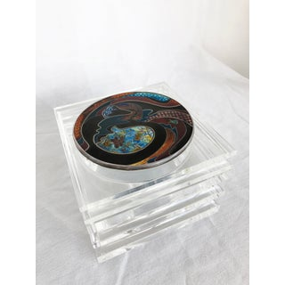 Rare Lucite Box Featuring Enamel Lid by Alessandro Albrizzi C. 1970s Preview