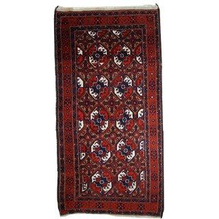 1900s Handmade Afghan Baluch Rug - 3.6' X 7.3' For Sale