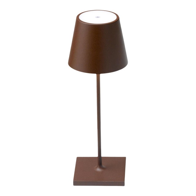 Zafferano Rust Rechargeable Indoor/Outdoor Cordless Mini Table Lamp For Sale