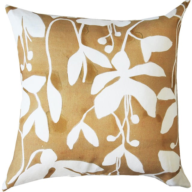 Goldenrod Fuchsia Pillow Cover by Kate Roebuck For Sale - Image 6 of 6