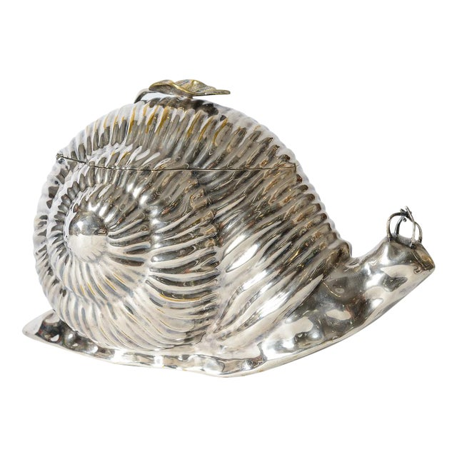 Italian Fabulous Snail Ice Bucket Made by Teghini in Florence C.1970 For Sale