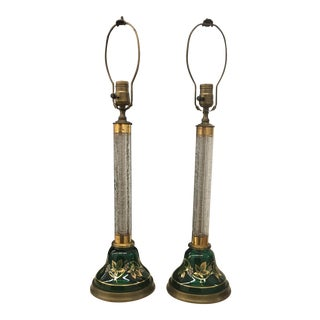 Lamps - Vintage Glass For Sale