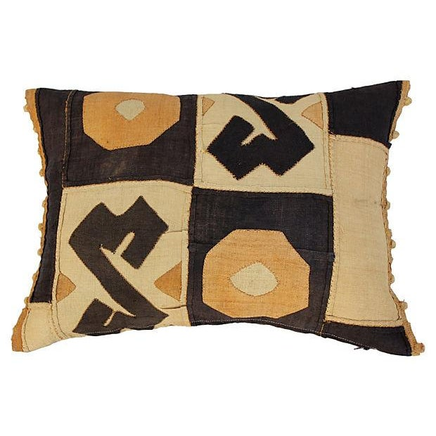 African Kuba Patchwork Pillow - Image 2 of 4