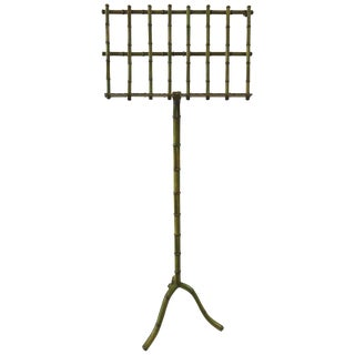 Grassy Green Faux Bamboo Music Stand For Sale