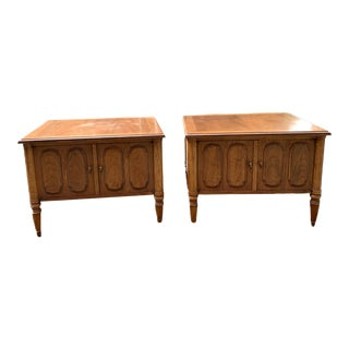 Vintage Italian Provincial Square Nightstands/Cabinets- a Pair For Sale