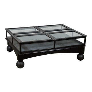 19th Century English Coffee Table Display Case For Sale