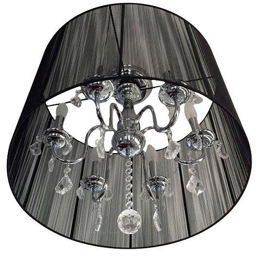 6-Light Silk String Semi-Flush Mount - Image 1 of 3