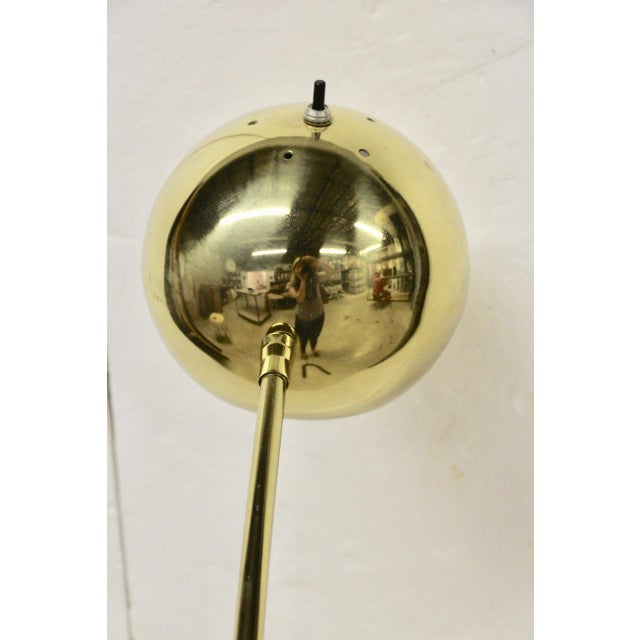 Mid-Century Modern Brass Floor Lamp For Sale - Image 4 of 5