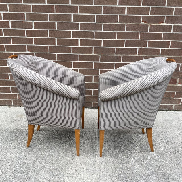 John Hutton for Donghia Plato Mod Barrel Chairs - a Pair For Sale - Image 11 of 13