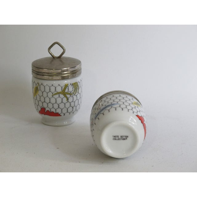 Fornasetti-Style Egg Coddlers - a Pair - Image 5 of 5