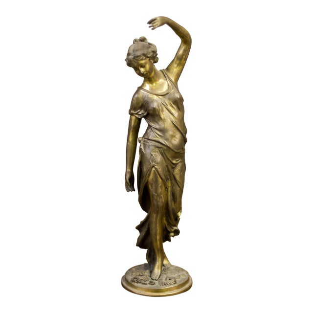 Cast Iron Female Metal Sculpture - Image 1 of 10