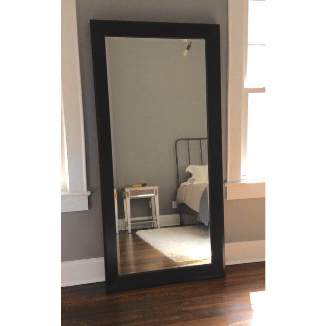 Crate & Barrel Black Floor Mirror - Image 2 of 2